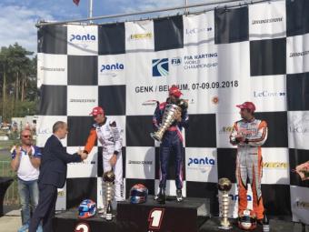 Mondiale Genk - Hajék trionfa in KZ, la KZ2 è di Viganò.